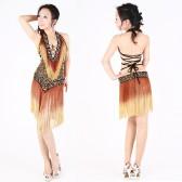 拉丁舞表演服装 拉丁舞珠绣演出服 时尚性感拉丁舞套装QC00201(加盟分销)