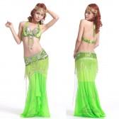 新款肚皮舞套装/舞台演出服饰/珠绣表演套装文胸和腰封QC1022(加盟分销)