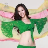 肚皮舞上衣/喇叭袖/蝴蝶袖上衣/七分袖时尚蕾丝上衣 QC8001(加盟分销)