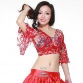 舞姿翼 肚皮舞服装 肚皮舞上衣 练习服上衣 肚皮舞新款上衣sz011(加盟分销)