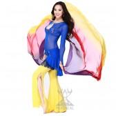 舞姿翼 肚皮舞套装新款 台湾水沙舞衣 QC2077(加盟分销)