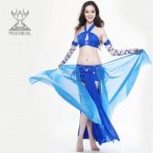 舞姿翼 肚皮舞新款 服装印度舞服装演出服 闪耀水钻表演套装 2093(市桥天猫)