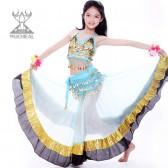 舞姿翼 新款 服装儿童印度舞服装 肚皮舞 演出服套装 舞蹈服装ET011-1(加盟分销)