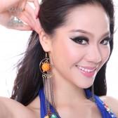 舞姿翼 肚皮舞民族风耳环 新款耳环 月亮耳环 T017(加盟分销)