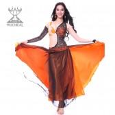 舞姿翼 肚皮舞套装 新款肚皮舞 印度表演服 演出服 蕾丝大裙2113(加盟分销)