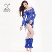 舞姿翼 2013新款 蕾丝连体表演服 性感妩媚新品QC2103(市桥天猫)