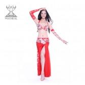 舞姿翼 服装氨纶肚皮舞演出服套装 新款钻石麻肚皮舞服装 QC2137-1(特价单文胸+腰封)
