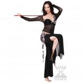 舞姿翼 肚皮舞新款 水沙牛奶丝印花舞蹈服 QC2076(加盟分销)