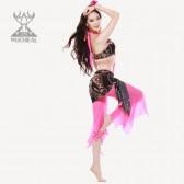 舞姿翼 2013新款  练习套装 民族图案印花  典雅妩媚 新品QC2091(加盟分销)