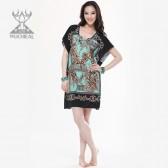 舞姿翼  新款肚皮舞连身裙套装 宽松舒适印度舞流苏表演服 QC2099(加盟分销)