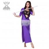 舞姿翼修身连体性感V领肚皮舞服装表演服 演出服 2件套 新款印度舞服装qc2081-1(加盟分销)
