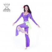 舞姿翼 服装台湾水纱肚皮舞练习服二件套 新款钻石麻肚皮舞服QC2152-2(加盟分销)