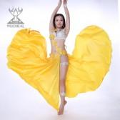 舞姿翼氨纶高开叉肚皮舞演出服裙装 性感蕾丝文胸肚皮舞套装QC2169(加盟分销)