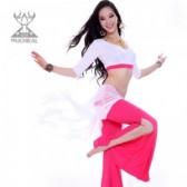 舞姿翼肚皮舞新款练习练功服清爽套装印度舞服装舞蹈服QC2118三件套(市桥天猫)
