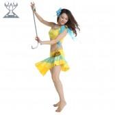 舞姿翼 玫瑰花肚皮舞练习服套装 夏季新款两件套 QC2197(市桥天猫)