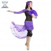 舞姿翼新款肚皮舞两件套 肚皮舞练习服套装(吊带+打底裤)QC2192-1(市桥天猫)