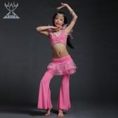 舞姿翼肚皮舞套装 儿童表演服套装 牛奶丝肚皮舞服装 RT008(七月新款)