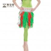 舞姿翼 新款肚皮舞裤子 肚皮舞练习裤 紧身小脚舞蹈裤 QC2106单裤