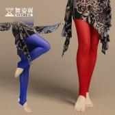 舞姿翼 肚皮舞裤子新款  莫代尔棉拼接高弹网布踩脚单裤  DK002