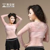 舞姿翼 肚皮舞新款 服装高韧蕾丝 单蕾丝肩套一件套JT002