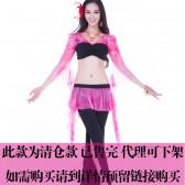 舞姿翼 双色钻石麻肚皮舞练习服两件套 服装双色肚皮舞套装QC2158(市桥天猫)