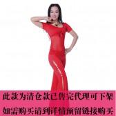 新款肚皮舞练习服 网纱舞服 套装QC2168(张赛红)