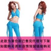 新款肚皮舞套装/舞台服装/表演服练习服套装/三宝石套装QC1011(加盟分销)