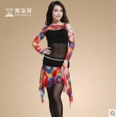 舞姿翼肚皮舞服装春夏套装新款舞蹈练习演出练功表演服QC2276