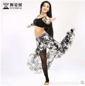 舞姿翼 2015新款 肚皮舞演出服 套装新款 性感蕾丝表演服 QC2287