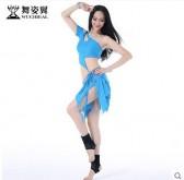 舞姿翼肚皮舞套装舞蹈演出表演服装女练习练功服夏新款裙子QC2320