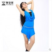 舞姿翼2015肚皮舞套装舞蹈演出表演服装女练功服夏装QC2358