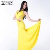 舞姿翼肚皮舞服装练功服套装2016新款练习服表演出服长款连衣裙子QC2537