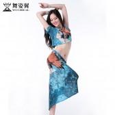 舞姿翼2016新款肚皮舞练功服套装舞蹈表演出服装练习服长裙子QC2556