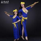 舞姿翼肚皮舞表演服装套装2016新款亲子演出服装蕾丝套装QC2619/RT091