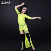 舞姿翼肚皮舞练功服套装2016新款儿童练习服长裙RT088