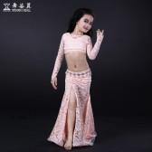舞姿翼 儿童肚皮舞练功服套装新款印度舞蹈服演出长裙服装RT087