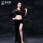 舞姿翼 肚皮舞练功服2016新款印度舞蹈服装练习服长裙名师款石英2682