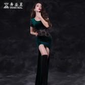 舞姿翼 肚皮舞服装春装新款东方舞练功服名师小薇款连衣裙2688