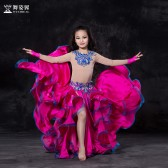 舞姿翼 肚皮舞儿童表演服2017新款 东方舞舞蹈服表演服儿童套装RT1115