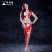 舞姿翼 肚皮舞练功服新款 东方舞舞蹈服表演服QC2602-3