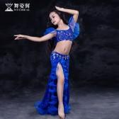 舞姿翼 肚皮舞演出服儿童套装2017新款印度舞舞蹈练习服套装RT136