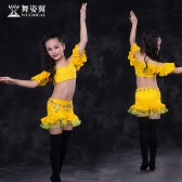 舞姿翼 肚皮舞儿童套装2017新款印度舞舞蹈练习服套装RT151