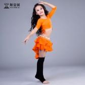 舞姿翼儿童肚皮舞套装印度舞蹈服装2017新款练功服RT195