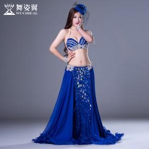 舞姿翼肚皮舞套装印度舞蹈服装2017新款表演服QC2792