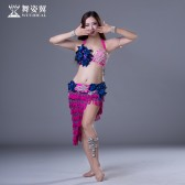 舞姿翼肚皮舞套装印度舞蹈服装2017新款鼓舞表演服QC2791