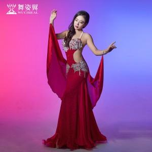 舞姿翼肚皮舞演出服2017新款高档女舞蹈表演服装裙子套装QC2818