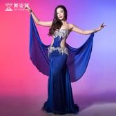 舞姿翼肚皮舞演出服2017新款女舞蹈表演服装裙子套装QC2818