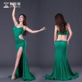 舞姿翼 肚皮舞练功服新款 东方舞舞蹈服 练习服长裙套装QC2872