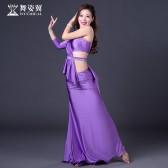 舞姿翼新款肚皮舞练习服东方舞蹈成人套装表演服 舞蹈服QC2887