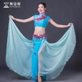 舞姿翼2018年新款 肚皮舞古典融合表演服 QC2863
